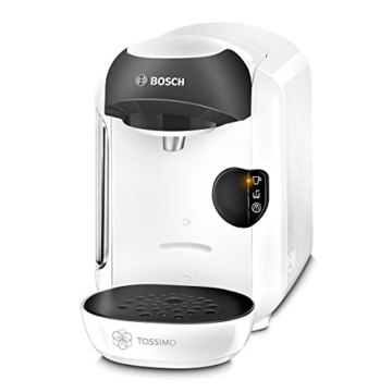 Bosch TAS1254 Tassimo Multi-Getränke-Automat VIVY (kompakte Gerätemaße, Getränkevielfalt, vollautomatische 1-Knopf-Bedienung), Snow White -