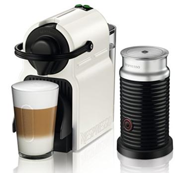 Krups Nespresso XN1011 Inissia Bundle Kaffeekapselmaschine, inklusive Aeroccino 3, weiß -