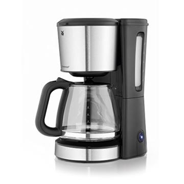 WMF BUENO Kaffeemaschine Glas, 10 Tassen, 1000 W, Aromaglaskanne, Warmhalteplatte, Tropfstopp, cromargan/silber -