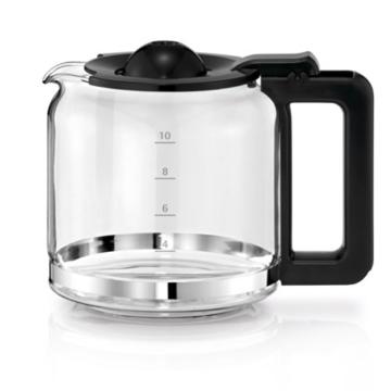 WMF Stelio 6130241110 Aroma Kaffeemaschine, (1000 Watt, mit Glakanne), schwarz/edelstahl -