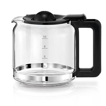 WMF STELIO Aroma Digital Kaffeemaschine Glas (10 Tassen, 24h Timer, Warmhalteplatte) Cromargan -